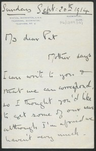 Letter from Blanche Somerset to Pat Armstrong