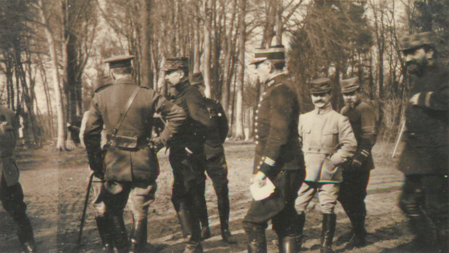 French officers near Ypres