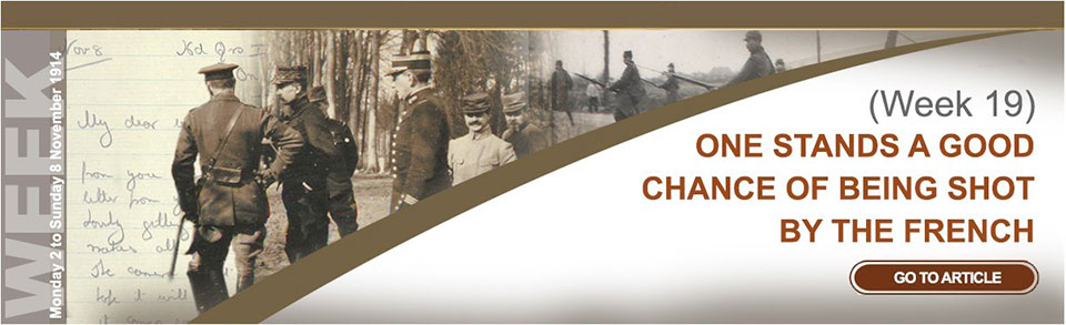 Monday 2 to Sunday 8 November 1914
