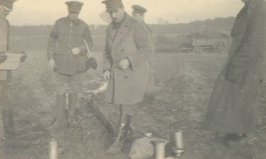 A trench mortar being fixed