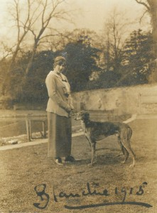 Blanchie and her lurcher