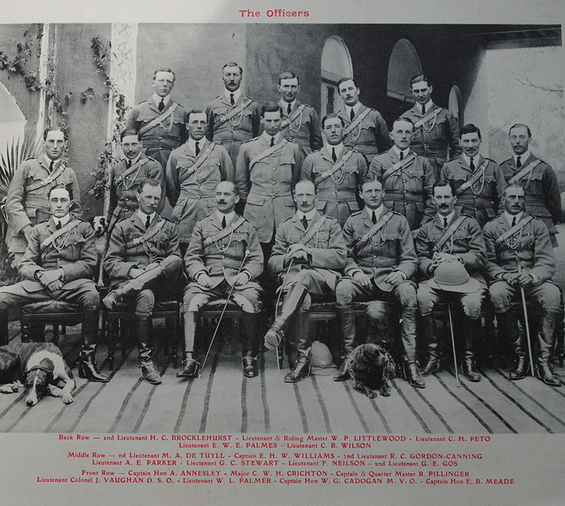 Officers of the 10th Hussars, Rawalpindi, 1910
