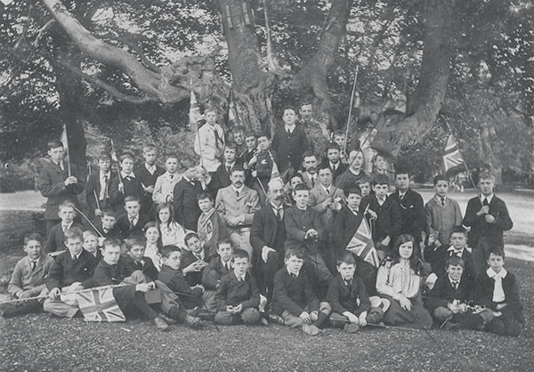 Pupils and teachers at Stoke House Preparatory School, Stoke Poges