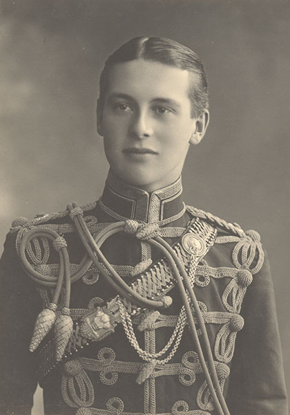 Pat Armstrong in the 10th Hussars parade uniform