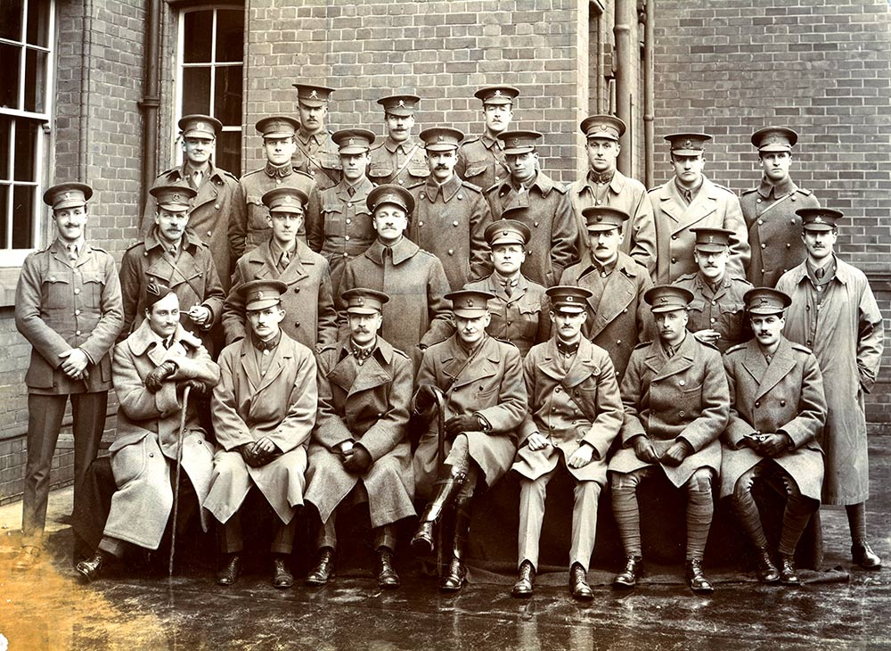 Officers at the Cavalry School, Netheravon