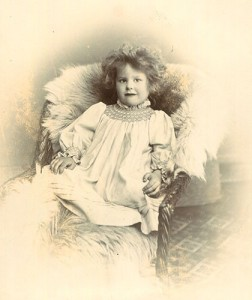 Ione Armstrong aged 3 years and 10 months