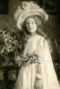 Ione Armstrong as a young girl