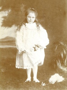 Jess Armstrong as a young girl