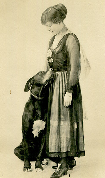 Jess Armstrong and Dusky, the Great Dane