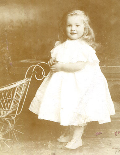 Lisalie Armstrong aged about two