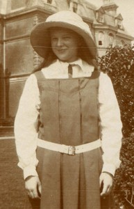 Lisalie Armstrong in her school pinny
