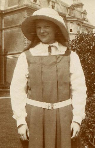 Lisalie Armstrong in her school pinny