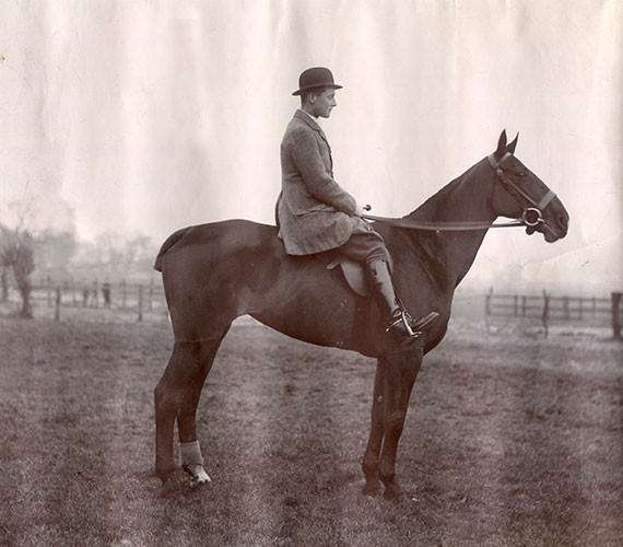 Pat Armstrong on horseback