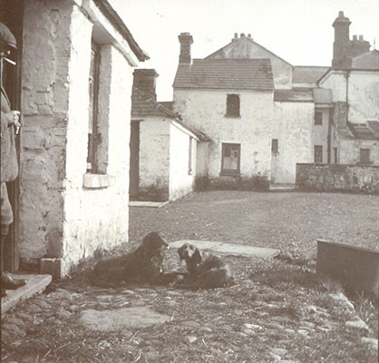 Rear and cobbled yard of Moyaliffe Castle
