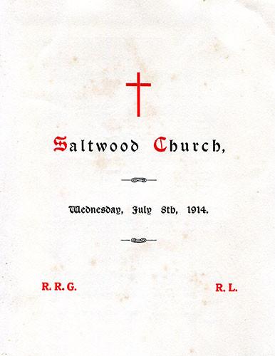 A wedding at Saltwood