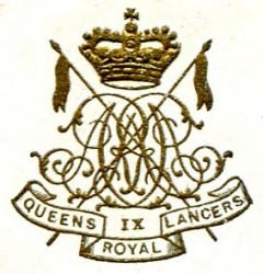 9th Queen's Royal Lancers badge