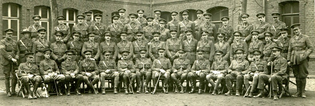 Officers at the Netheravon Cavalry School, 1914