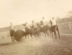 A mounted football match