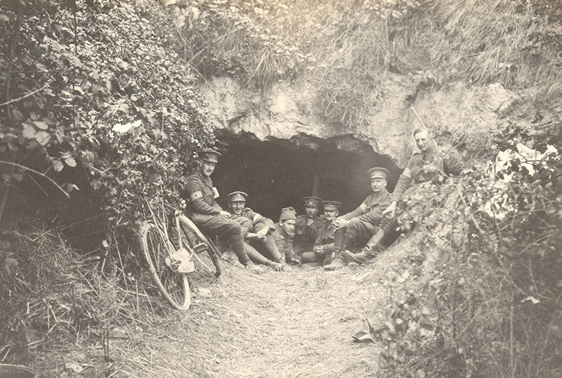 General FitzClarence's cave headquarters on the Aisne