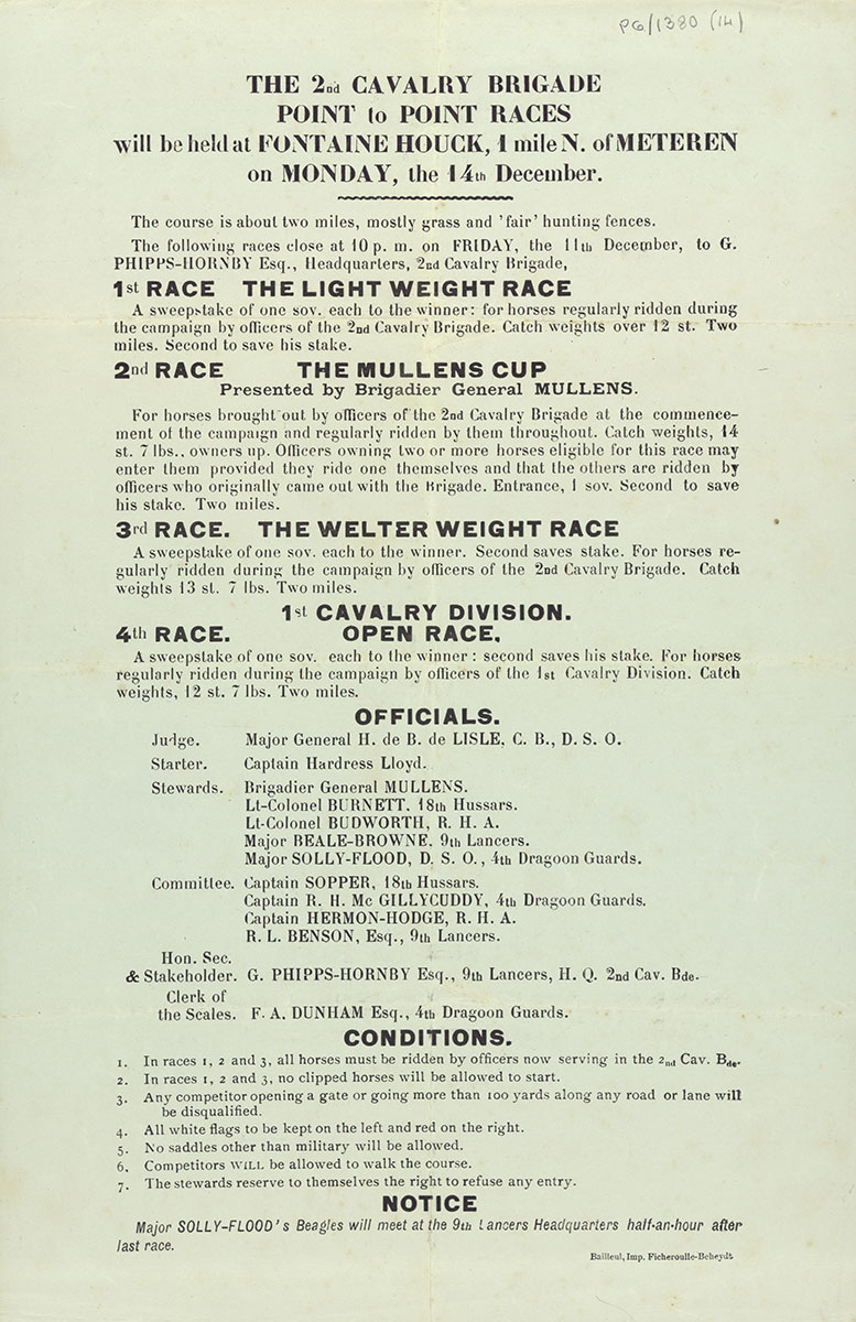 Point-to-point race programme