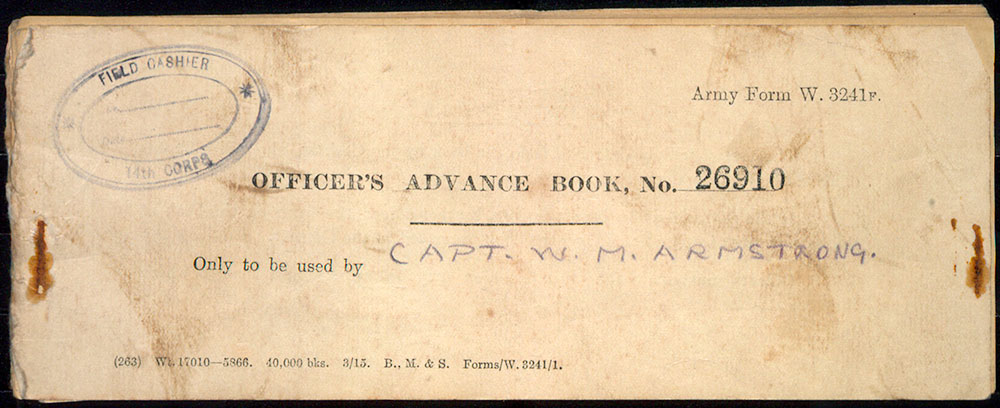 Officer's advance book