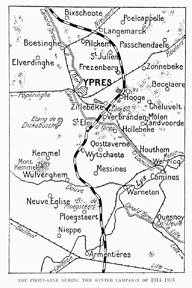 The front line during the 1914-1915 winter campaign