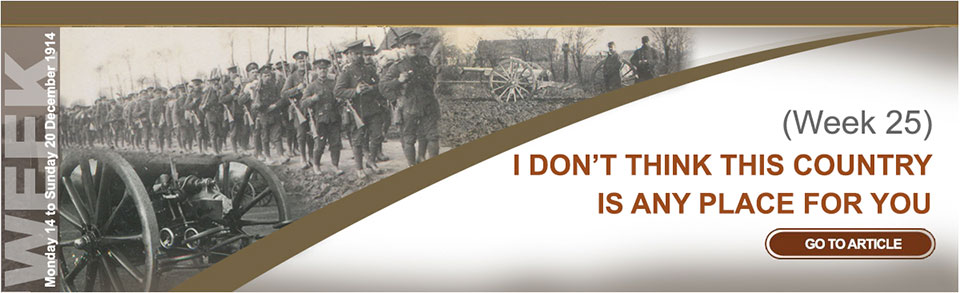Monday 14 to Sunday 20 December 1914