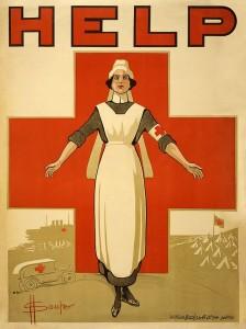 Red Cross volunteer recruitment poster