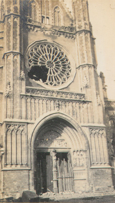 The round window in the cathedral at Ypres