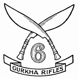 Badge of the 6th Gurkha Rifles