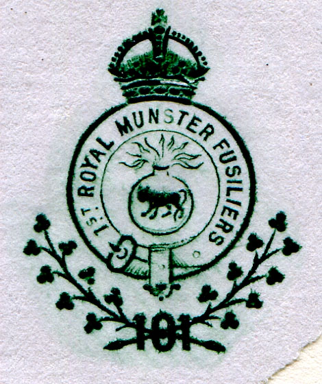 Insignia of the 1st Royal Munster Fusiliers