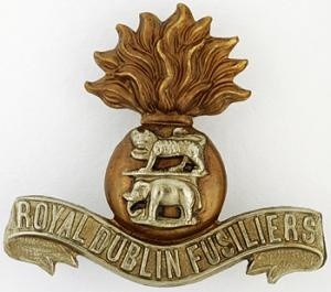 Cap badge of the Royal Dublin Fusiliers
