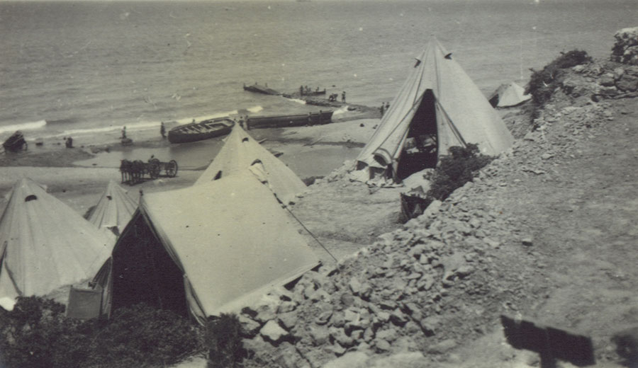 Camp at Gully Beach, Gallipoli