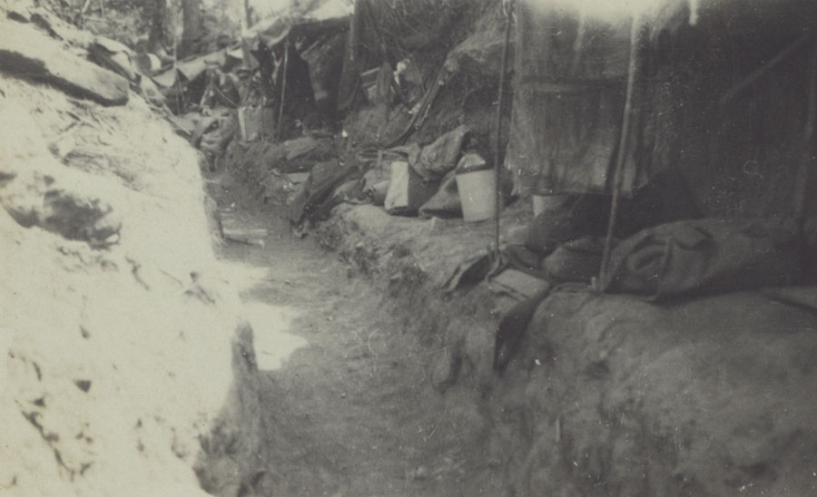 Captured Turkish trench