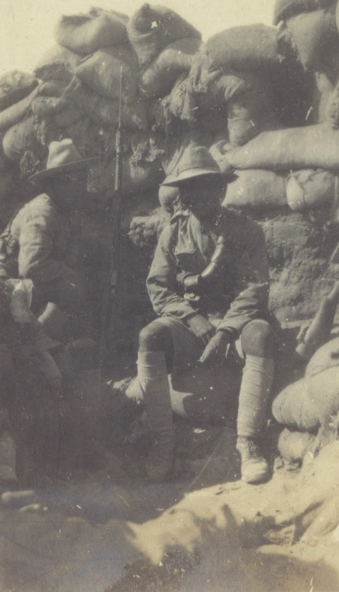 Gurkhas in a trench