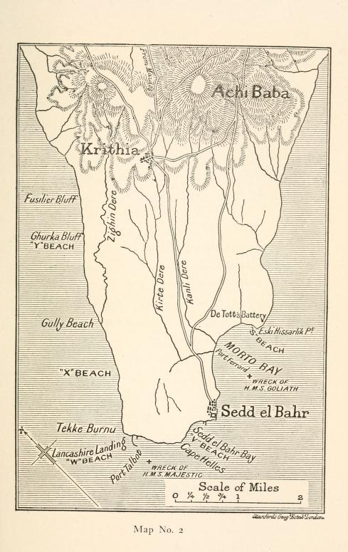 Cape Helles and its vicinity