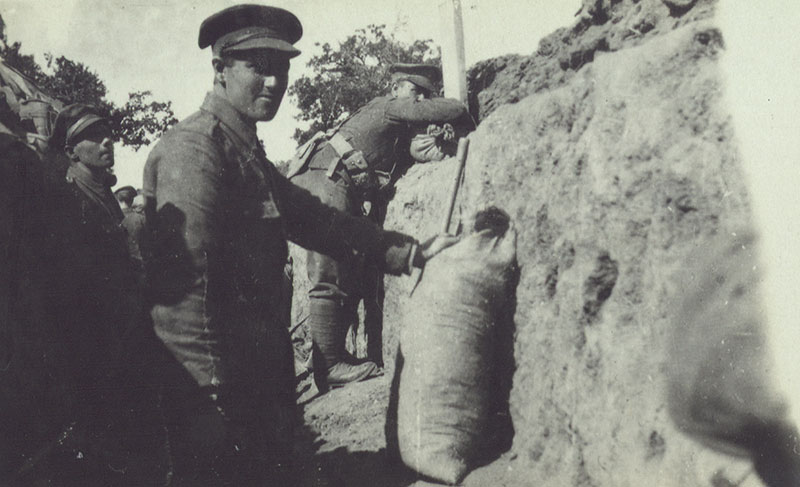 Trench life in Gallipoli