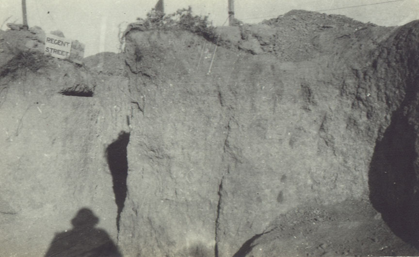 Regent Street communication trench in Gallipoli
