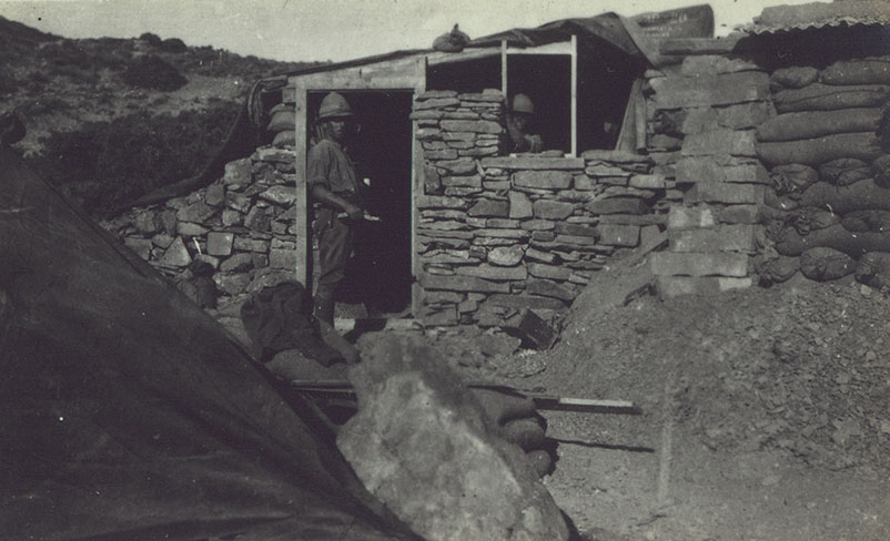 Pat's dugout being built