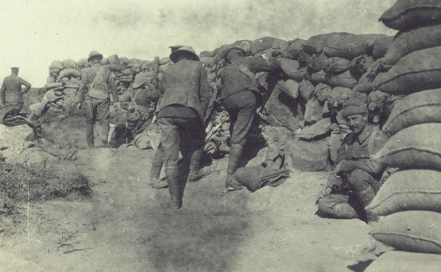 Sentries in trenches