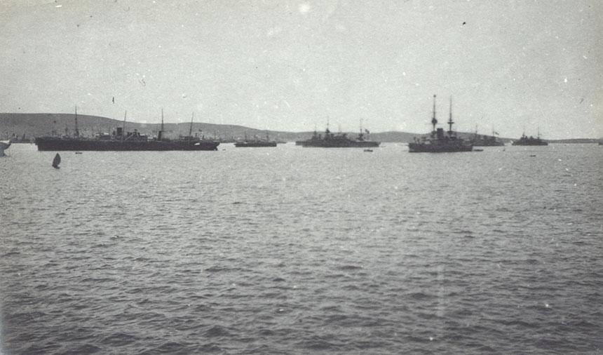 Battleships at Mudros