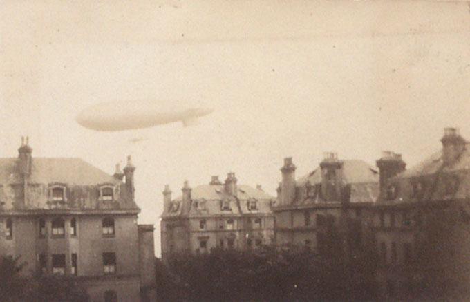 A zeppelin in Folkestone