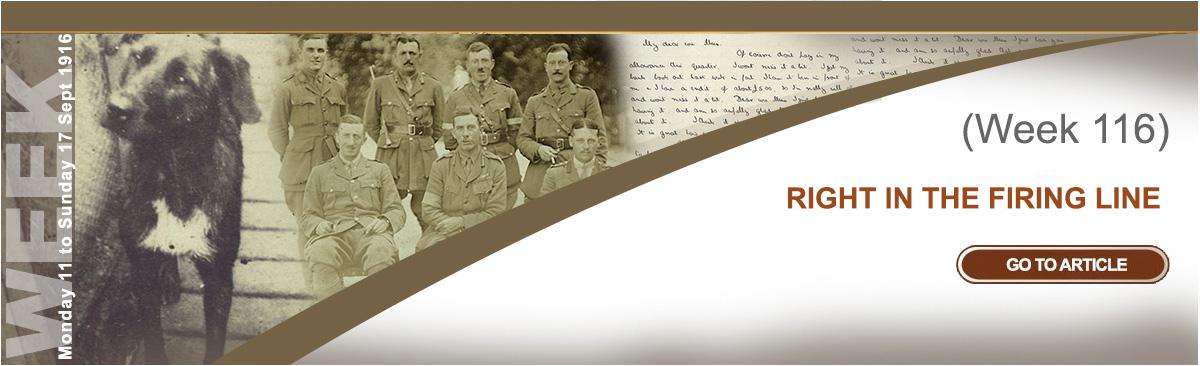 Monday 11 to Sunday 17 September 1916
