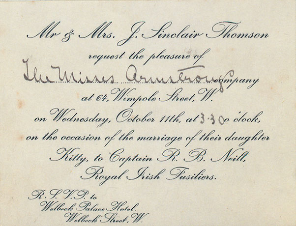 An invitation to the wedding