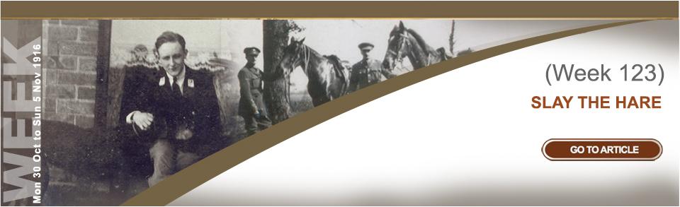 Monday 30 October to Sunday 5 November 1916