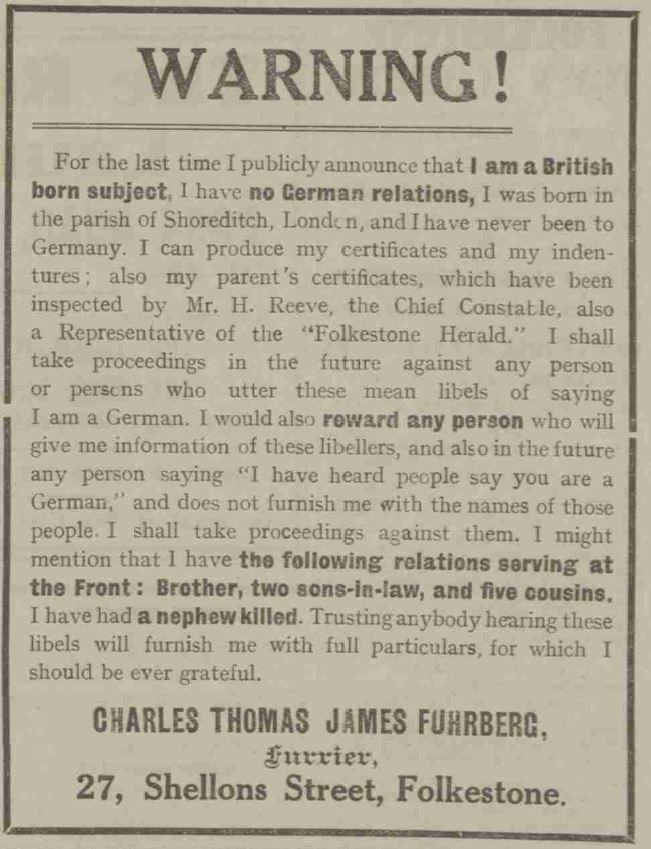 """I am a British born subject"""