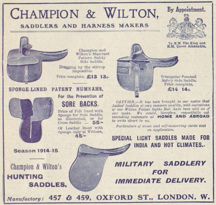 Champion & Wilton saddles