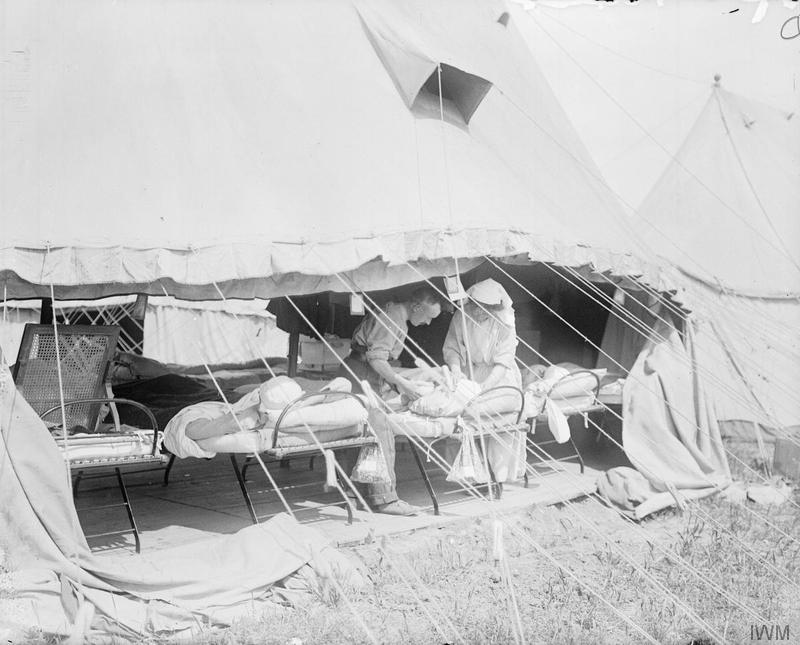A casualty clearing station