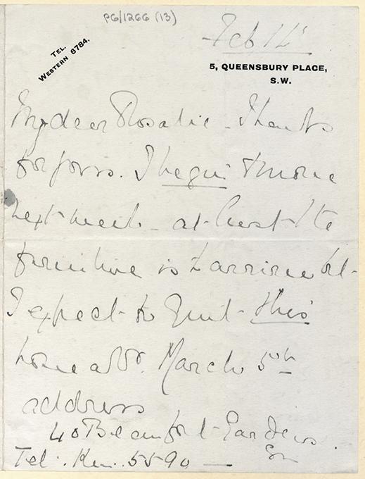 Letter from Leila de Lisle