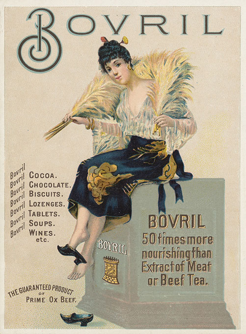 Advertising card promoting Bovril